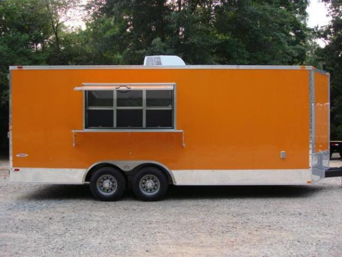 Not in Stock: Awesome 8.5ft X 20ft Concession Trailer w/4 Sinks, A/C, Finished Inside! Special Order!