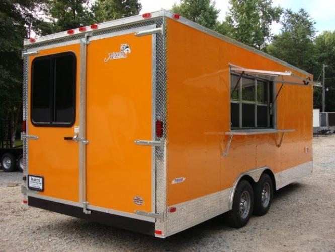 2019 Orange Freedom 8.5ft X 20ft Tandem Concession Trailer , located at 1330 Rainey Rd., Macon, GA, 31220, (478) 960-1044, 32.845638, -83.778687 - Photo #10