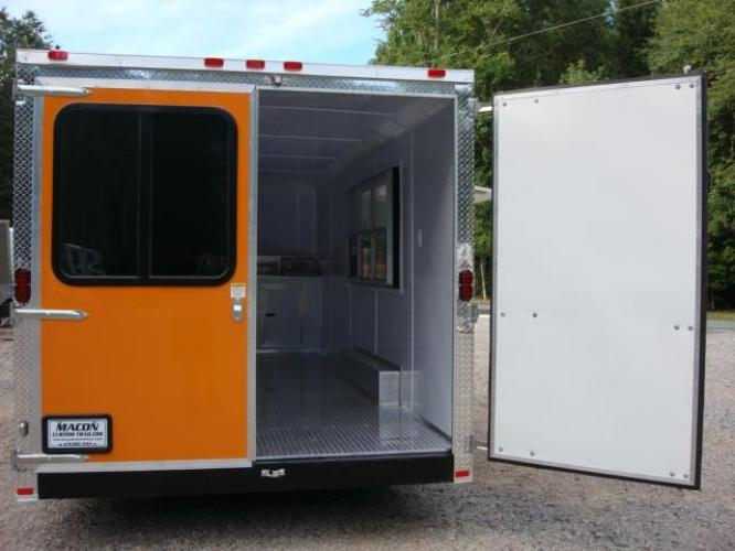 2019 Orange Freedom 8.5ft X 20ft Tandem Concession Trailer , located at 1330 Rainey Rd., Macon, GA, 31220, (478) 960-1044, 32.845638, -83.778687 - Photo #11