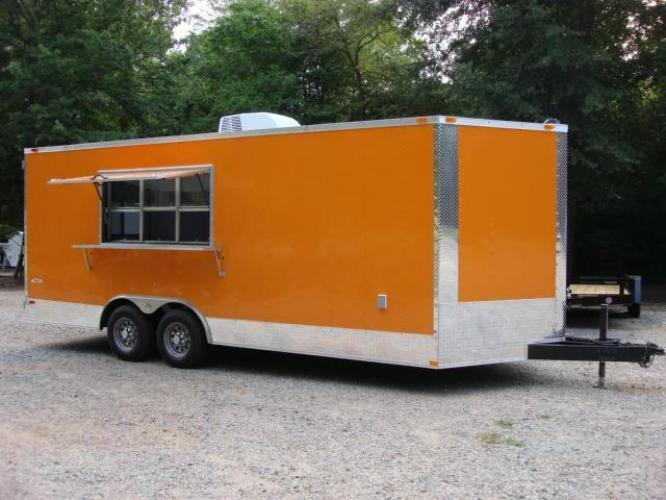 2019 Orange Freedom 8.5ft X 20ft Tandem Concession Trailer , located at 1330 Rainey Rd., Macon, GA, 31220, (478) 960-1044, 32.845638, -83.778687 - Photo #1