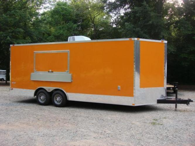 2019 Orange Freedom 8.5ft X 20ft Tandem Concession Trailer , located at 1330 Rainey Rd., Macon, GA, 31220, (478) 960-1044, 32.845638, -83.778687 - Photo #35