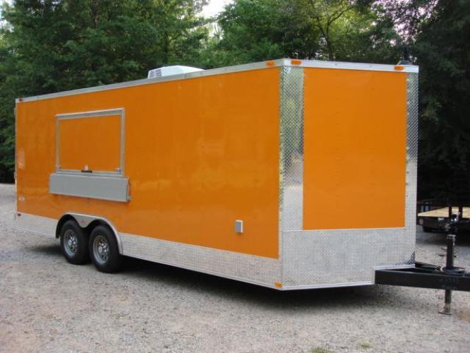 2019 Orange Freedom 8.5ft X 20ft Tandem Concession Trailer , located at 1330 Rainey Rd., Macon, GA, 31220, (478) 960-1044, 32.845638, -83.778687 - Photo #37
