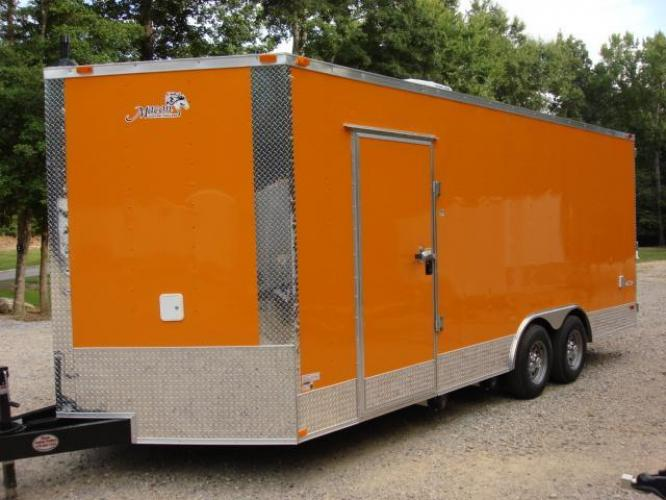 2019 Orange Freedom 8.5ft X 20ft Tandem Concession Trailer , located at 1330 Rainey Rd., Macon, GA, 31220, (478) 960-1044, 32.845638, -83.778687 - Photo #5