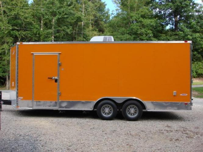 2019 Orange Freedom 8.5ft X 20ft Tandem Concession Trailer , located at 1330 Rainey Rd., Macon, GA, 31220, (478) 960-1044, 32.845638, -83.778687 - Photo #6
