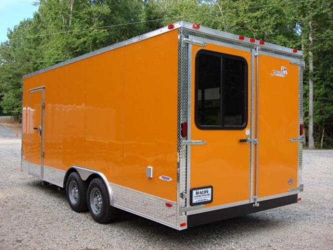 2019 Orange Freedom 8.5ft X 20ft Tandem Concession Trailer , located at 1330 Rainey Rd., Macon, GA, 31220, (478) 960-1044, 32.845638, -83.778687 - Photo #8