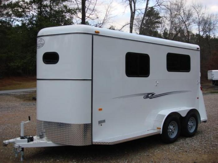 http://www.maconcustomtrailers.com/autos/2019-Bee-Trailers-2-Horse-Straight-Load-Macon-GA-1064 - Photo #1