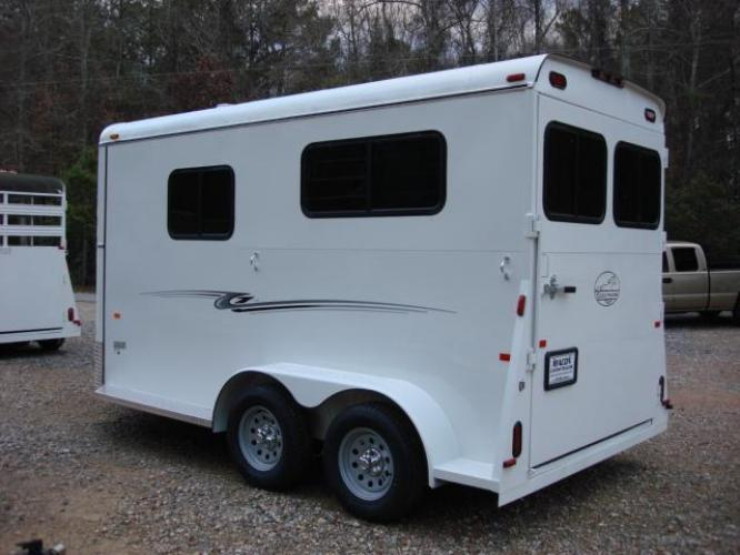 2019 White Bee Trailers 2 Horse Straight Load , located at 1330 Rainey Rd., Macon, GA, 31220, (478) 960-1044, 32.845638, -83.778687 - Photo #3