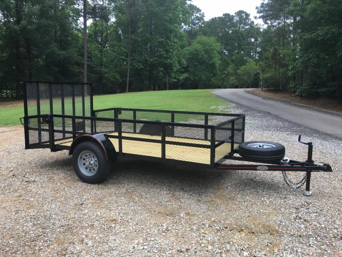 2020 Black Macon Custom Trailers 6ft X 12ft High Sided , located at 1330 Rainey Rd., Macon, GA, 31220, (478) 960-1044, 32.845638, -83.778687 - Photo #0