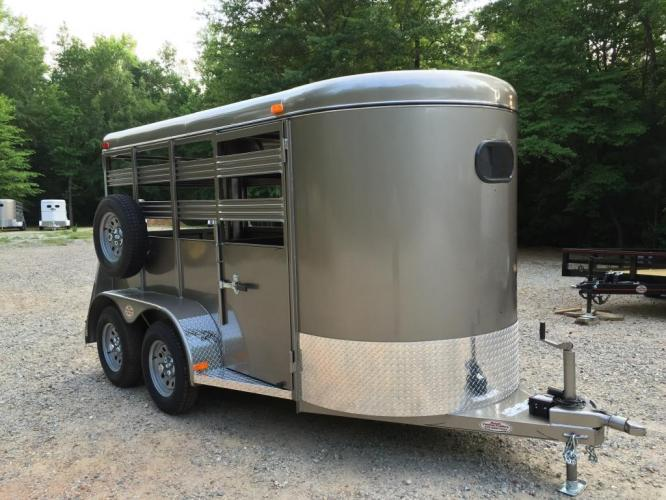2021 Pewter Metallic Bee Trailers Mini-Livestock , located at 1330 Rainey Rd., Macon, GA, 31220, (478) 960-1044, 32.845638, -83.778687 - Photo #0