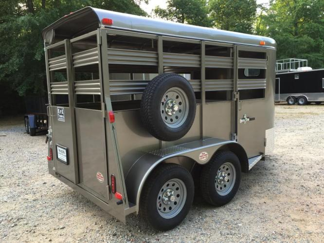 2021 Pewter Metallic Bee Trailers Mini-Livestock , located at 1330 Rainey Rd., Macon, GA, 31220, (478) 960-1044, 32.845638, -83.778687 - Photo #1