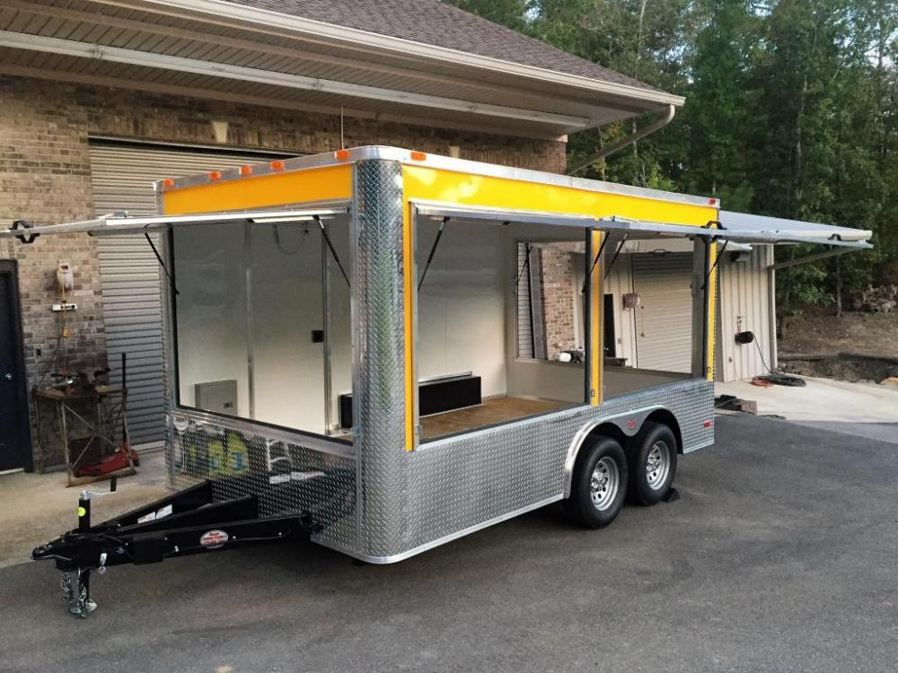 2021 Yellow Freedom 8.5ft X 14ft Concession Trailer , located at 1330 Rainey Rd., Macon, GA, 31220, (478) 960-1044, 32.845638, -83.778687 - Photo #0