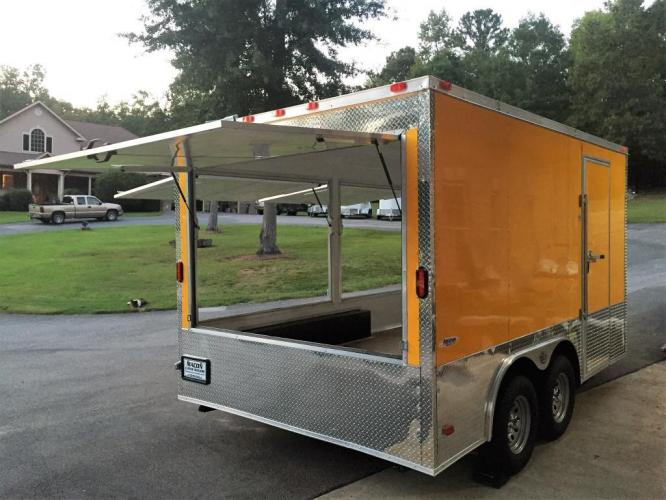 2019 Yellow Freedom 8.5ft X 14ft Concession Trailer , located at 1330 Rainey Rd., Macon, GA, 31220, (478) 960-1044, 32.845638, -83.778687 - Photo #10