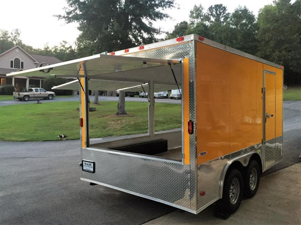 2021 Yellow Freedom 8.5ft X 14ft Concession Trailer , located at 1330 Rainey Rd., Macon, GA, 31220, (478) 960-1044, 32.845638, -83.778687 - Photo #10