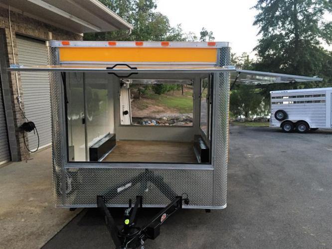 2019 Yellow Freedom 8.5ft X 14ft Concession Trailer , located at 1330 Rainey Rd., Macon, GA, 31220, (478) 960-1044, 32.845638, -83.778687 - Photo #11