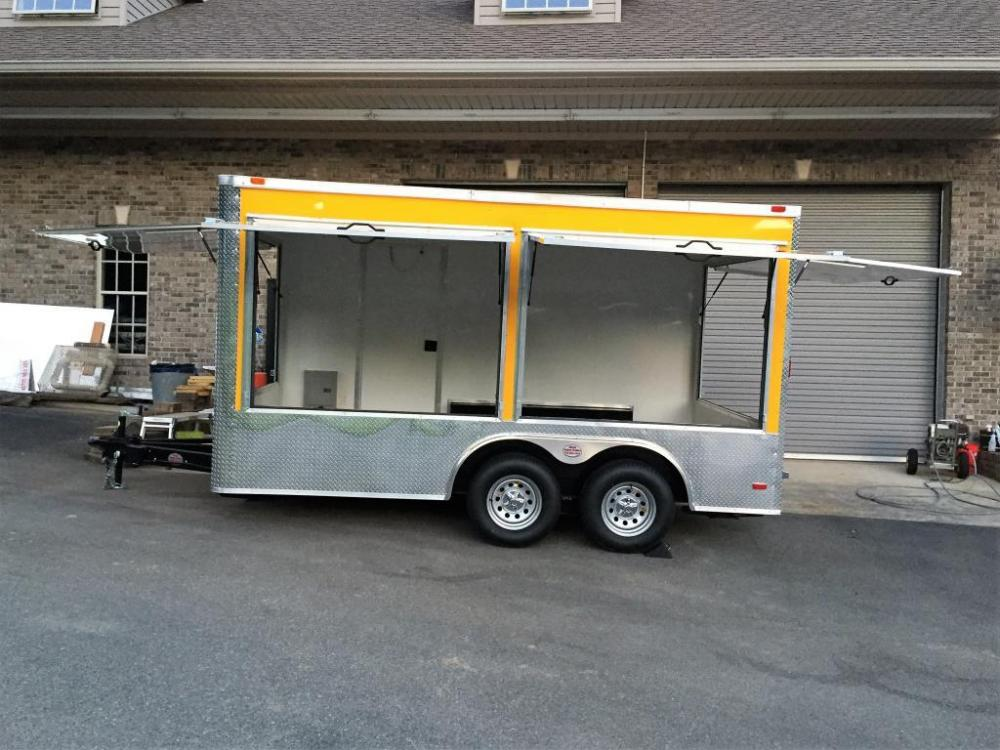 2021 Yellow Freedom 8.5ft X 14ft Concession Trailer , located at 1330 Rainey Rd., Macon, GA, 31220, (478) 960-1044, 32.845638, -83.778687 - Photo #12