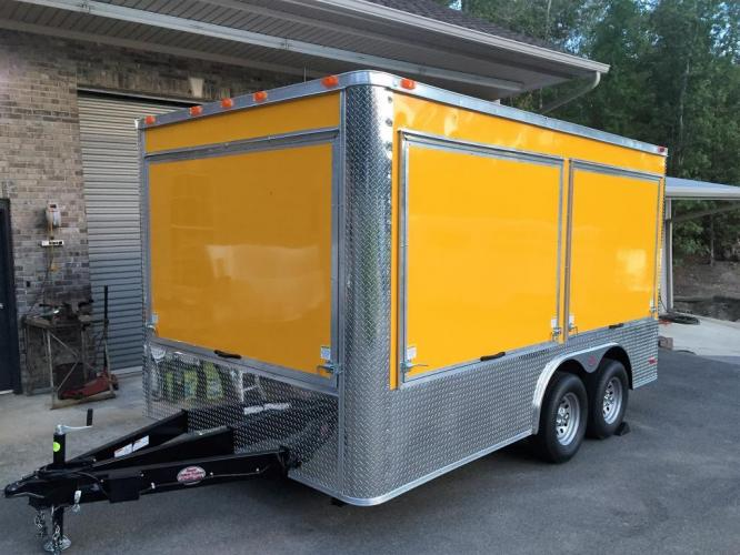 2019 Yellow Freedom 8.5ft X 14ft Concession Trailer , located at 1330 Rainey Rd., Macon, GA, 31220, (478) 960-1044, 32.845638, -83.778687 - Photo #1