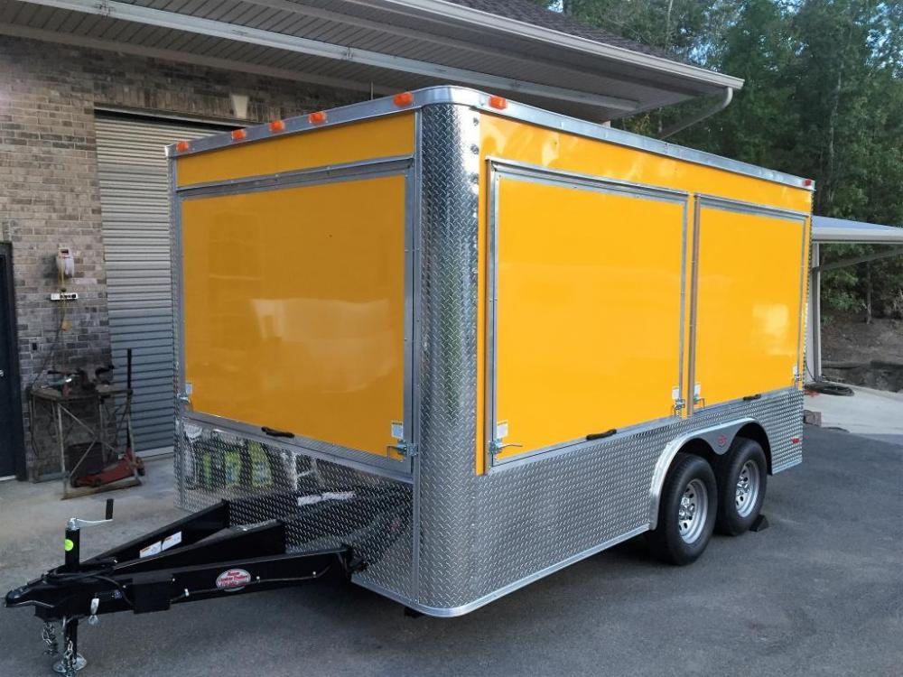 2021 Yellow Freedom 8.5ft X 14ft Concession Trailer , located at 1330 Rainey Rd., Macon, GA, 31220, (478) 960-1044, 32.845638, -83.778687 - Photo #1