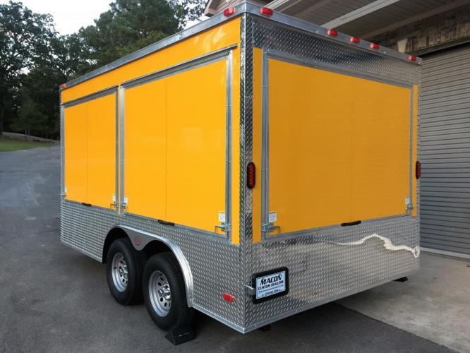 2019 Yellow Freedom 8.5ft X 14ft Concession Trailer , located at 1330 Rainey Rd., Macon, GA, 31220, (478) 960-1044, 32.845638, -83.778687 - Photo #3