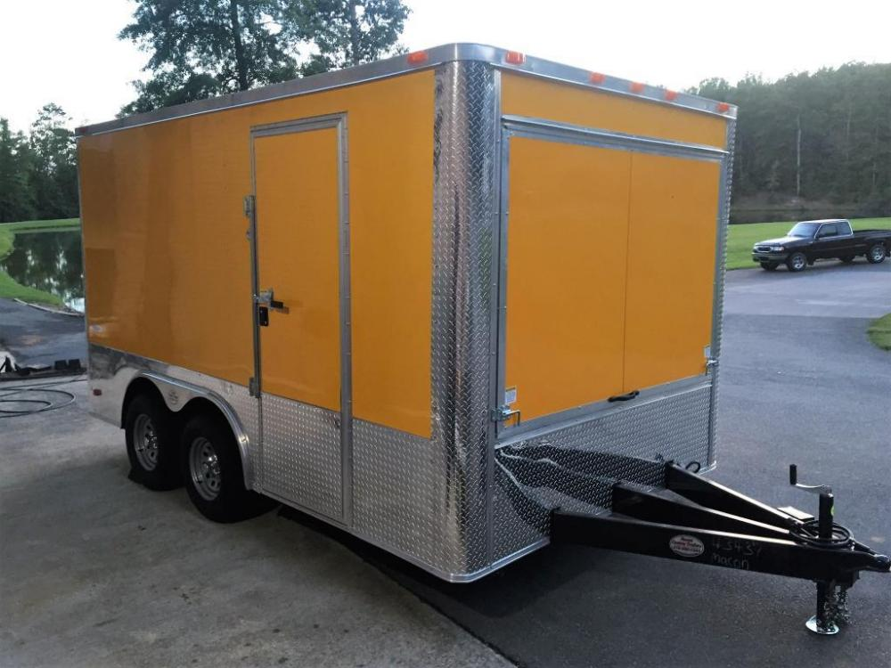 2021 Yellow Freedom 8.5ft X 14ft Concession Trailer , located at 1330 Rainey Rd., Macon, GA, 31220, (478) 960-1044, 32.845638, -83.778687 - Photo #4