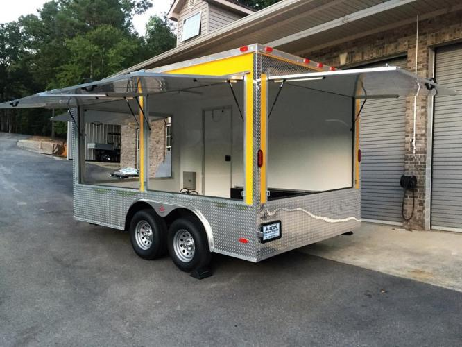 2019 Yellow Freedom 8.5ft X 14ft Concession Trailer , located at 1330 Rainey Rd., Macon, GA, 31220, (478) 960-1044, 32.845638, -83.778687 - Photo #5