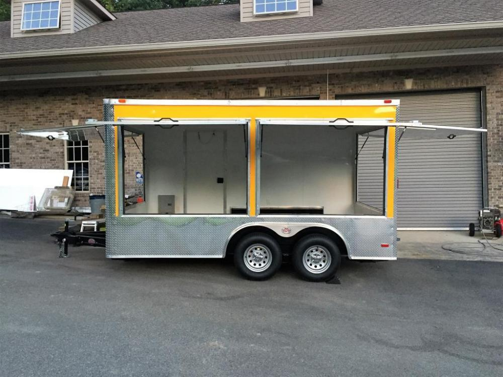 2021 Yellow Freedom 8.5ft X 14ft Concession Trailer , located at 1330 Rainey Rd., Macon, GA, 31220, (478) 960-1044, 32.845638, -83.778687 - Photo #6