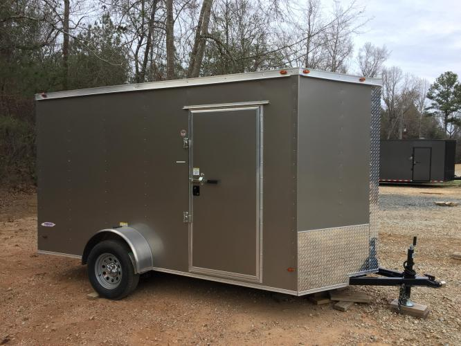 Enclosed Cargo Trailer, 6ft X 12ft Tall Ramp Door