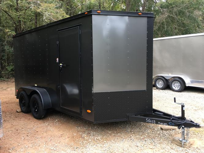 2021 Charcoal Metallic w/Black Out Pkg. Freedom 7ft X 16ft Cargo Trailer , located at 1330 Rainey Rd., Macon, GA, 31220, (478) 960-1044, 32.845638, -83.778687 - Photo #0