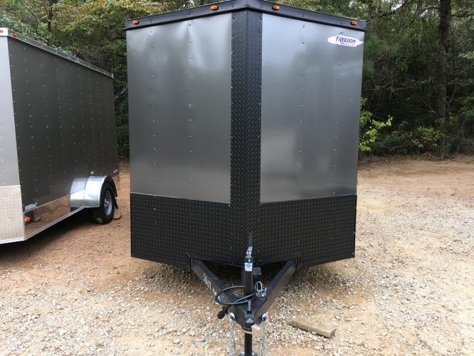 2021 Charcoal Metallic w/Black Out Pkg. Freedom 7ft X 16ft Cargo Trailer , located at 1330 Rainey Rd., Macon, GA, 31220, (478) 960-1044, 32.845638, -83.778687 - Photo #13