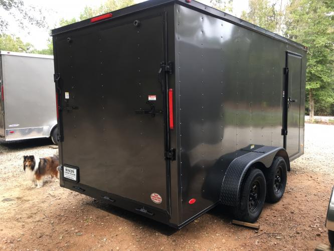 2021 Charcoal Metallic w/Black Out Pkg. Freedom 7ft X 16ft Cargo Trailer , located at 1330 Rainey Rd., Macon, GA, 31220, (478) 960-1044, 32.845638, -83.778687 - Photo #3