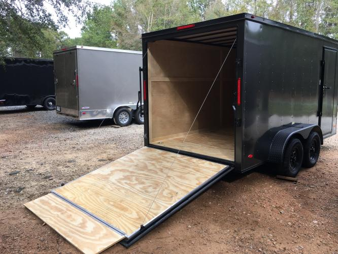 2021 Charcoal Metallic w/Black Out Pkg. Freedom 7ft X 16ft Cargo Trailer , located at 1330 Rainey Rd., Macon, GA, 31220, (478) 960-1044, 32.845638, -83.778687 - Photo #6
