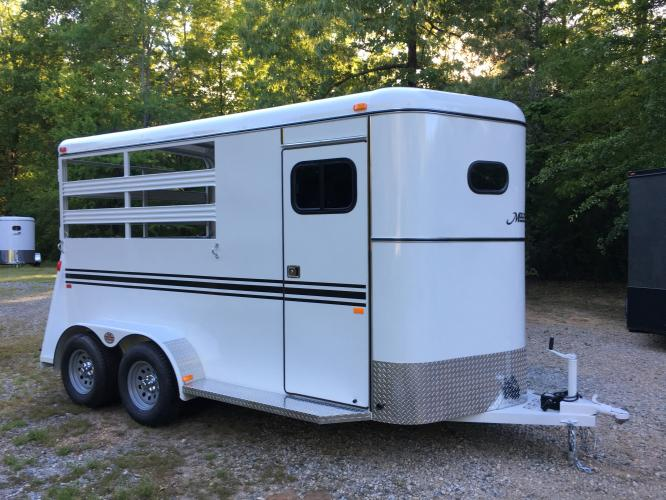 2019 White Bee Trailers 2 Horse Slant Warmblood DR , located at 1330 Rainey Rd., Macon, GA, 31220, (478) 960-1044, 32.845638, -83.778687 - Photo #1