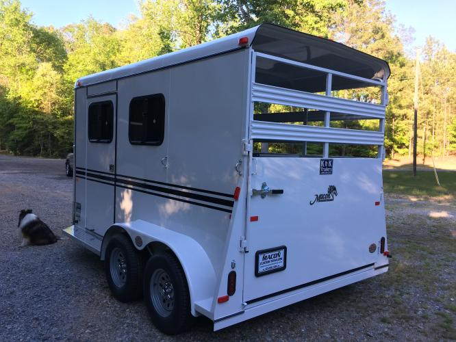2019 White Bee Trailers 2 Horse Slant Warmblood DR , located at 1330 Rainey Rd., Macon, GA, 31220, (478) 960-1044, 32.845638, -83.778687 - Photo #3