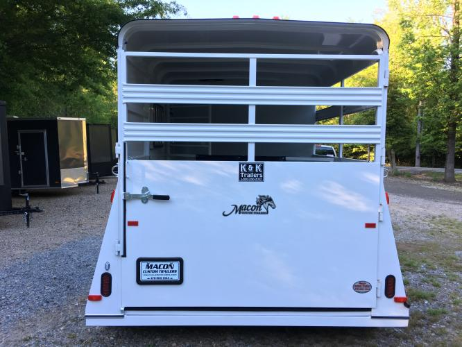 2019 White Bee Trailers 2 Horse Slant Warmblood DR , located at 1330 Rainey Rd., Macon, GA, 31220, (478) 960-1044, 32.845638, -83.778687 - Photo #4