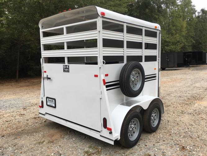2020 White Bee Trailers 2 Horse Straight Load , located at 1330 Rainey Rd., Macon, GA, 31220, (478) 960-1044, 32.845638, -83.778687 - Photo #2