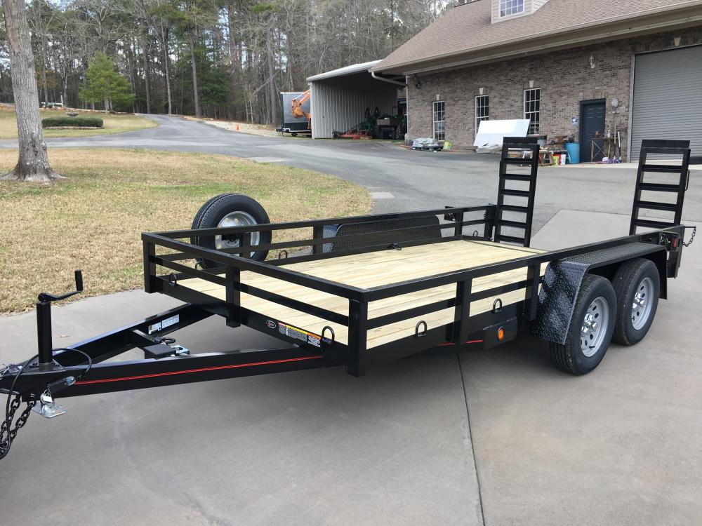 2021 Black Macon Custom Trailers 6.5ft X 14ft Tandem Utility , located at 1330 Rainey Rd., Macon, GA, 31220, (478) 960-1044, 32.845638, -83.778687 - Photo #0