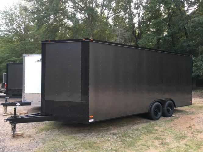 2021 Charcoal Metallic w/Black Out Pkg. Freedom Trailers 8.5ft X 20ft Tandem , located at 1330 Rainey Rd., Macon, GA, 31220, (478) 960-1044, 32.845638, -83.778687 - Photo #0
