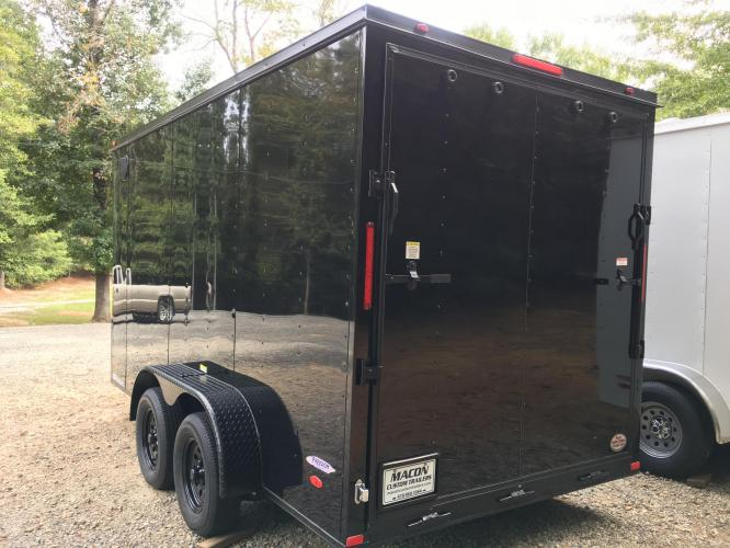 2021 Black Freedom Trailers 7ft X 14ft Tandem Black Out Package , located at 1330 Rainey Rd., Macon, GA, 31220, (478) 960-1044, 32.845638, -83.778687 - Photo #9