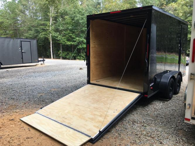 2021 Black Freedom Trailers 7ft X 14ft Tandem Black Out Package , located at 1330 Rainey Rd., Macon, GA, 31220, (478) 960-1044, 32.845638, -83.778687 - Photo #10