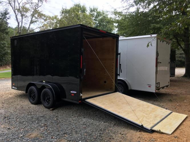 2021 Black Freedom Trailers 7ft X 14ft Tandem Black Out Package , located at 1330 Rainey Rd., Macon, GA, 31220, (478) 960-1044, 32.845638, -83.778687 - Photo #16