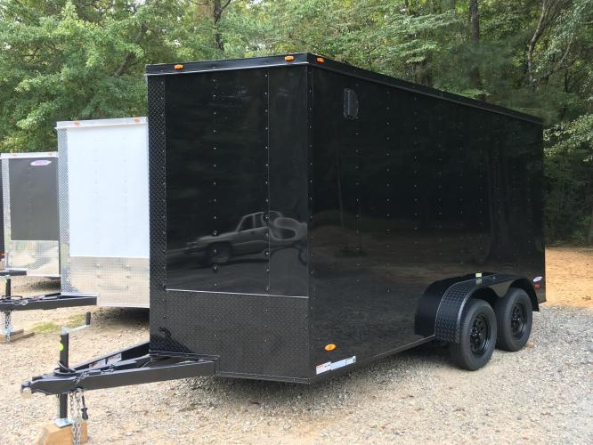 2021 Black Freedom Trailers 7ft X 14ft Tandem Black Out Package , located at 1330 Rainey Rd., Macon, GA, 31220, (478) 960-1044, 32.845638, -83.778687 - Photo #17