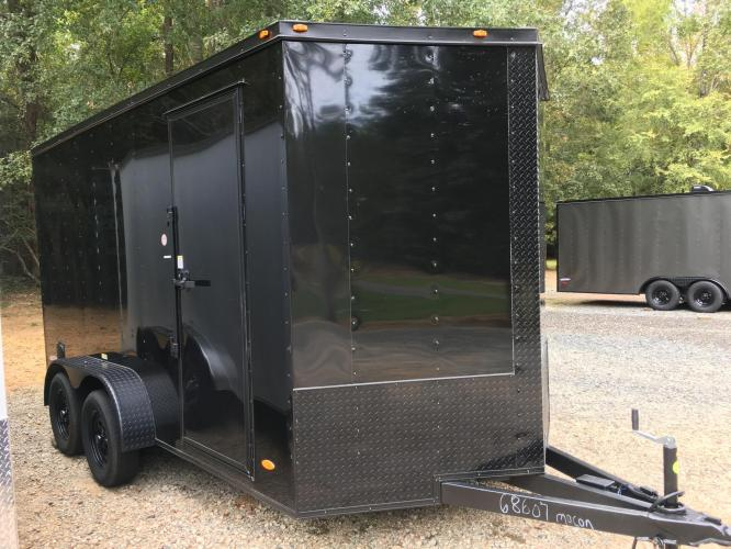 2021 Black Freedom Trailers 7ft X 14ft Tandem Black Out Package , located at 1330 Rainey Rd., Macon, GA, 31220, (478) 960-1044, 32.845638, -83.778687 - Photo #6