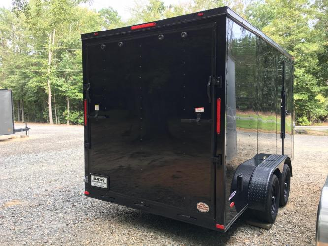2021 Black Freedom Trailers 7ft X 14ft Tandem Black Out Package , located at 1330 Rainey Rd., Macon, GA, 31220, (478) 960-1044, 32.845638, -83.778687 - Photo #7