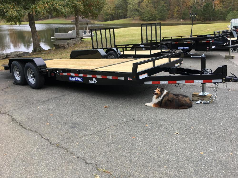 2021 Black Sure-Trac 7 Ton Tilt Bed Trailer , located at 1330 Rainey Rd., Macon, GA, 31220, (478) 960-1044, 32.845638, -83.778687 - Photo #0