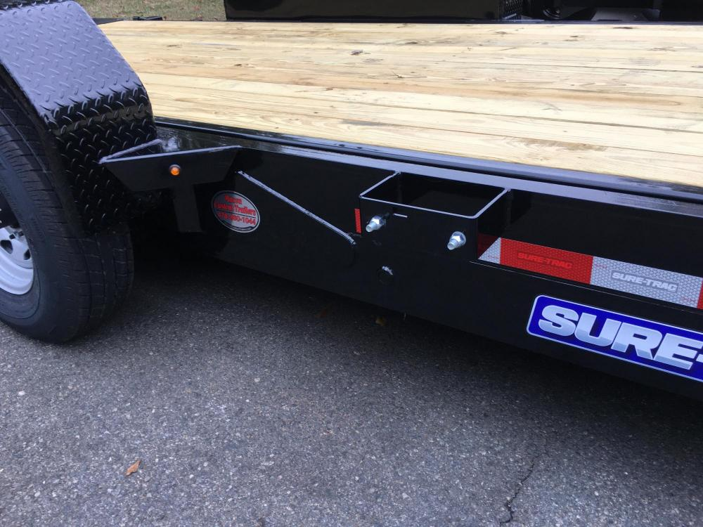 2021 Black Sure-Trac 7 Ton Tilt Bed Trailer , located at 1330 Rainey Rd., Macon, GA, 31220, (478) 960-1044, 32.845638, -83.778687 - Photo #14