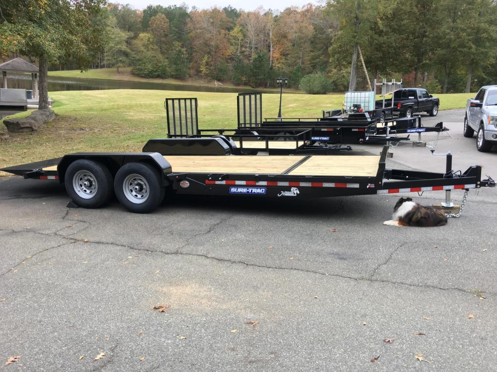 2021 Black Sure-Trac 7 Ton Tilt Bed Trailer , located at 1330 Rainey Rd., Macon, GA, 31220, (478) 960-1044, 32.845638, -83.778687 - Photo #1