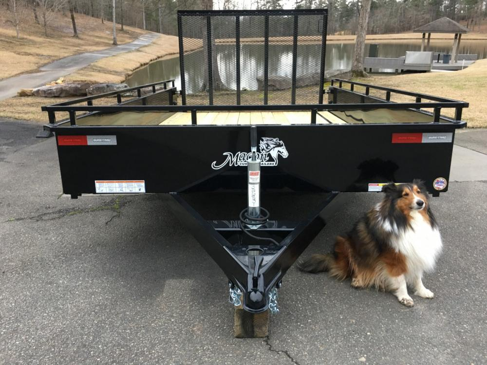 2021 Black Sure-Trac 7ft X 12ft Sure Trac , located at 1330 Rainey Rd., Macon, GA, 31220, (478) 960-1044, 32.845638, -83.778687 - Photo #2