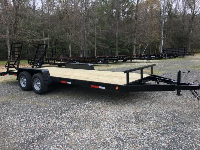 7ft X 20ft 5 Ton BobCat Trailer, Flip Up Ramps! Heavy Duty 6