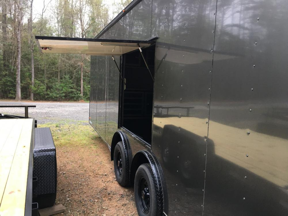 2021 Charcoal Metallic w/Black Out Pkg. Freedom Trailers 8.5ft X 24ft Race Ready Pkg , located at 1330 Rainey Rd., Macon, GA, 31220, (478) 960-1044, 32.845638, -83.778687 - Photo #2