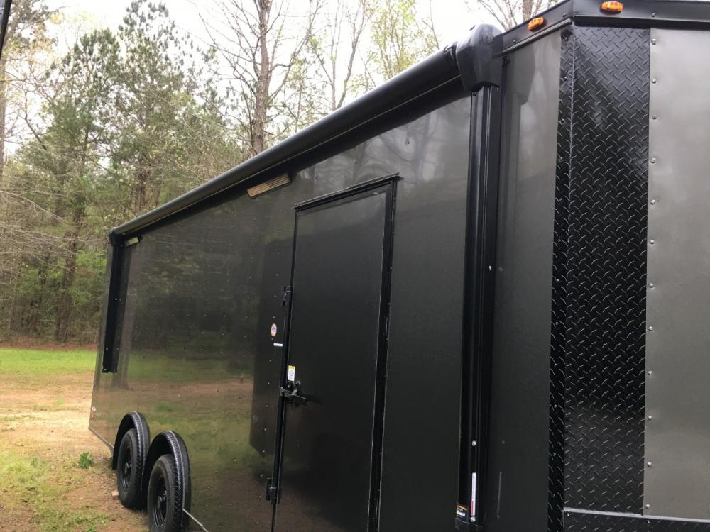 2021 Charcoal Metallic w/Black Out Pkg. Freedom Trailers 8.5ft X 24ft Race Ready Pkg , located at 1330 Rainey Rd., Macon, GA, 31220, (478) 960-1044, 32.845638, -83.778687 - Photo #4