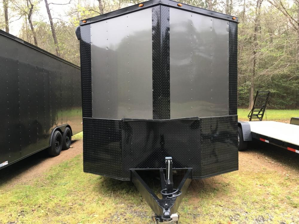 2021 Charcoal Metallic w/Black Out Pkg. Freedom Trailers 8.5ft X 24ft Race Ready Pkg , located at 1330 Rainey Rd., Macon, GA, 31220, (478) 960-1044, 32.845638, -83.778687 - Photo #6